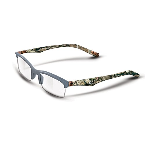 Mossy Oak Redheart Men's Reader Glasses - Mossy Oak Infinity - Grey - 1.75X