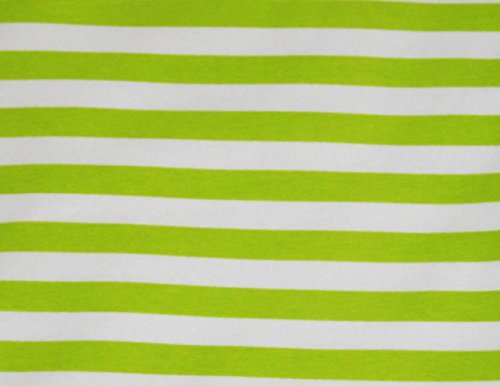 101 Diy Halloween Costumes (Knit Key Lime Stripes 1/2 inch Design Fabric By the Yard, 95% Cotton, 5% Lycra, 60 Inches Wide, Excellent Quality, Medium weight, 4 way stretch (4 yards))