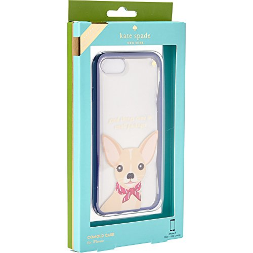 Kate Spade New York Women's Jeweled Chihuahua Phone Case for iPhone 7 Clear Multi Cellphone Case by Kate Spade New York (Image #3)