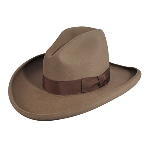 Bailey Men's Clayton Pecan Gus Crown Cowboy Hat Pecan 6 3/4 (Felt Gus Hat)