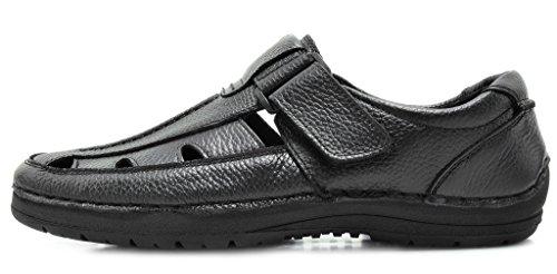 Bruno Marc Heren Havana Outdoor Visser Sandalen 02-zwart
