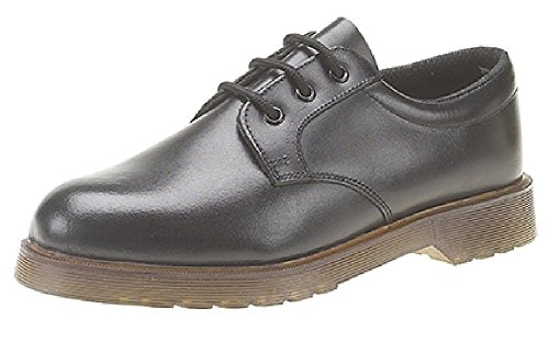 Grafters Uniform Smart Work Shoes. 3 Eyelet Lace-Up, With Air Cushion PVC Sole