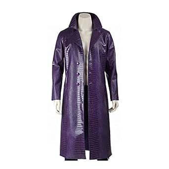 Azcloset Suicide Squad Jared Leto Joker Purple Coat - Halloween Sale (XL)