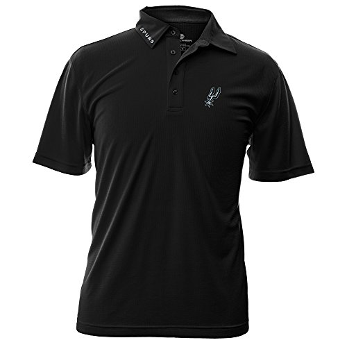 NBA San Antonio Spurs Adult Men Surface Wordmark Polo - Polo Antonio Store San