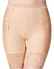XUNZOO Women's Undershorts for Dresses Lace Slip Anti Chafing Stretch Thigh Waist Band Pettipant Underwear