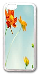 iPhone 6 plus Case and Cover -Cosmos Flowers TPU Silicone Rubber Case Cover for iPhone 6 plus and iphone 6 plus 5.5 inch Transparent