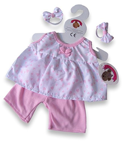 Teddy Bear Clothes Pink Bows PJ's fit Build a Bear factory Teddies by Build your Bears Wardrobe