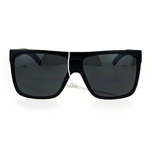SA106 All Black Limo Flat Top Mob Oversized - Flat Black Mens Sunglasses