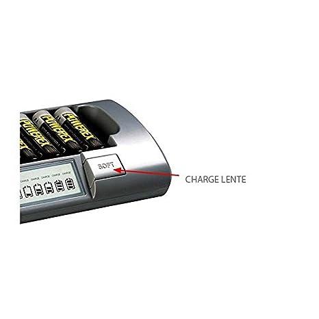 Cargador Powerex MH-C800S - Tiempo de carga (rápida): de 1 a 2 horas + Sanyo eneloop HR-3UTGA - Pilas AA (Paquete de 4) + Sanyo eneloop HR-4UTGA - ...