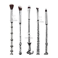 Siver Harry Makupup Brush Set 5pcs Eye Shadow Blending Brushes Fantasy Makeup Tools Kit