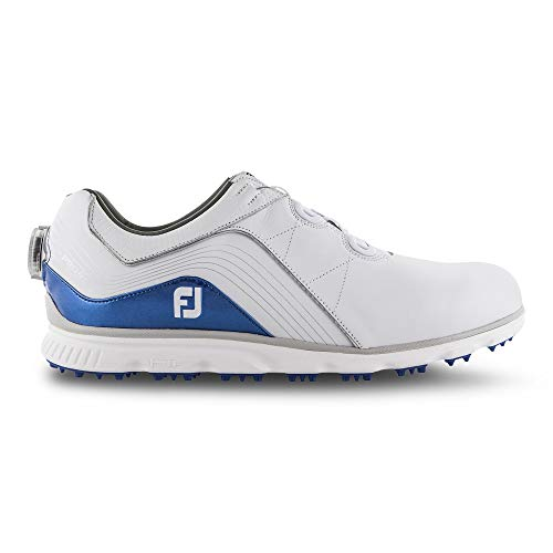FootJoy Men's Pro/SL Boa Golf Shoes White 10 W Blue, US