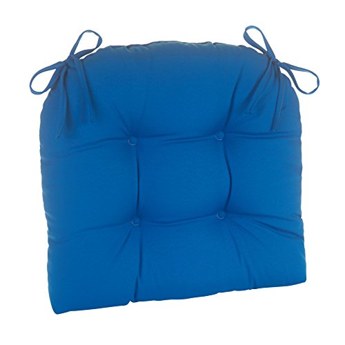 (Klear Vu Indoor and Outdoor Large Dining Accent Chair Pad Cushion with Ties, 20