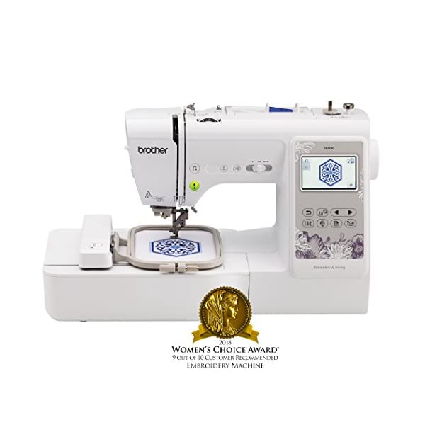 Brother Sewing Machine Se600 Computerized Sewing And Embroidery Machine With 4 X 4 Embroidery Area 80 Embroidery Designs 103 Built In Sewing Stitches White Sewing From A To Z