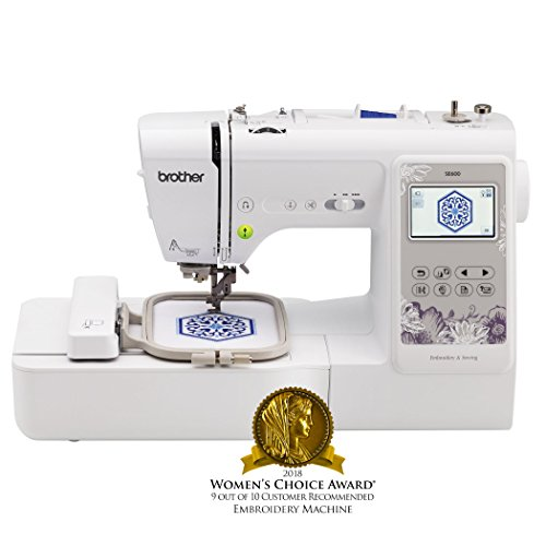 (Brother Sewing Machine, SE600, Computerized Sewing and Embroidery Machine with 4