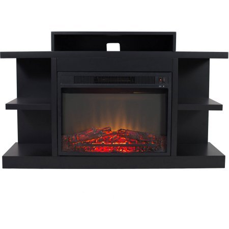 Electric Fireplace with 46