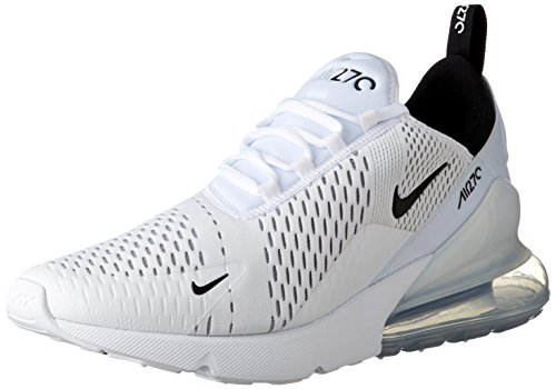 Amazon.com | NIKE Air Max 270 Men's Running Shoes White/Black-White AH8050-100 | Road Running