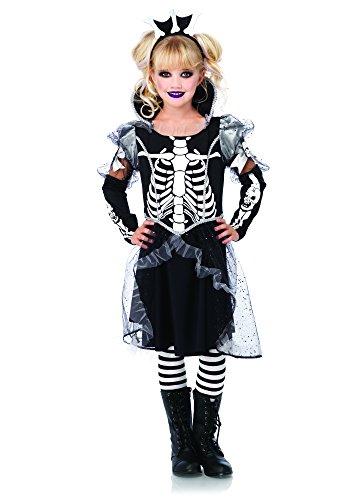 Leg Avenue Children's Skeleton Princess Costume, Black/White, Medium