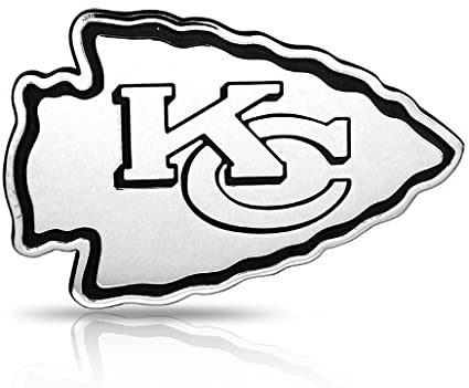 Amazon Com Team Promark Nfl Kansas City Chiefs 3d Chrome Metal Car Emblem Automotive Decals Sports Outdoors