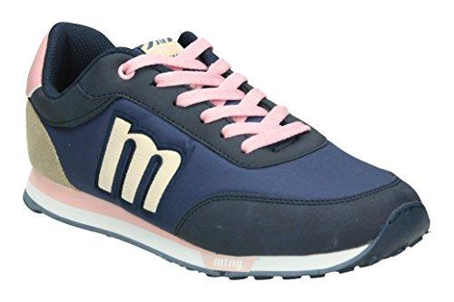 MTNG WoMen 56406 Low-Top Sneakers Blue (Vertigo Marino / Nylon Marino / Grotto Natural / Rosa / Vertigo Taupe C43655)