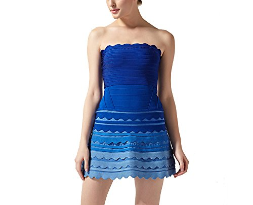 Bandage Dresses Rayon Lace Bandage Skirt Party Pink Party Dress Pettiskirt Dress,Blue Gradient,M by super-dresses
