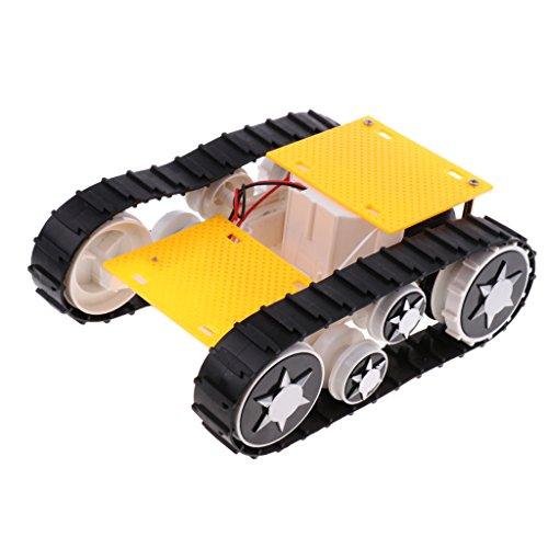 Baosity 3-9V ライトショック トランスフォーミングロボットタンク カーシャーシキット Arduino SN1900用 DIYサイエンスおもちゃ