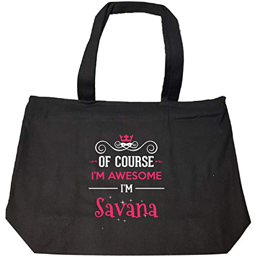 (Of Course I'm Awesome I'm Savana Cool Gift - Tote Bag With Zip)