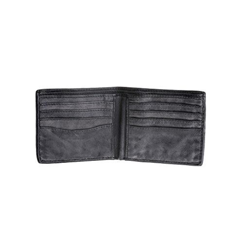 Man's leather Slate 580 card Wallet wallet ~ DUDU Timeless 290 credit in effect pockets vintage Black HrHq1