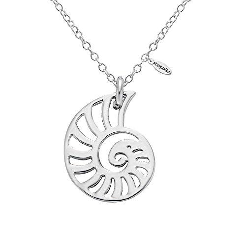 Swirl Necklace (NOUMANDA Silver Seashell Necklace Spiral Swirl Sea Snail Necklace Ocean Beach Conch Necklaces (silver))
