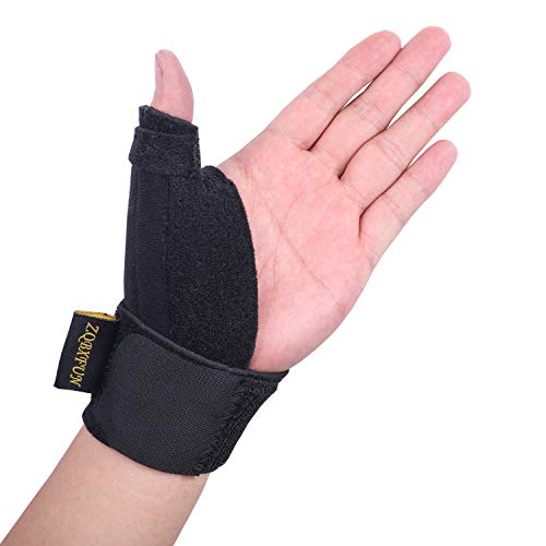 Adjustable Compression Support Thumb Brace -Reversible Thumb & Wrist Stabilizer Splint Breathable Support for Trigger Finger, Pain Relief, Arthritis, Tendonitis, Sprained, Carpal Tunnel. (Best Thumb Support Brace)