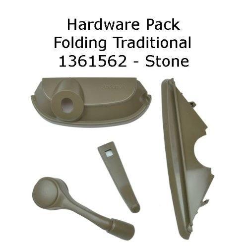Andersen Casement Window - 200/400 Series - Hardware Pack - Traditional - Stone - 1361562 by Andersen Windows