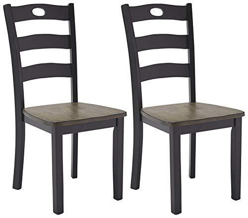 Ashley Furniture Signature Design - Froshburg Dining Room Chair - Grayish Brown/Black