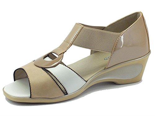 MELLUSO 08949 Camel - Sandalias de vestir de Piel para mujer Camel