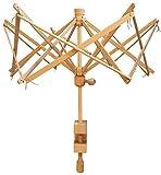 Premium Knitter Yarn Swift 24' (One Size Fits All) Umbrella Wooden Yarn Ball Winder