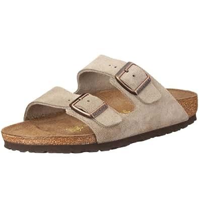 Birkenstock Unisex Arizona Slide Fashion Sandals, Taupe Leather, 35 N