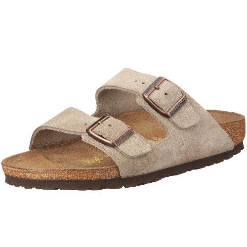 Birkenstock 1011304 Unisex Arizona Slide Fashion Sandals, Taupe Leather, 37 N ()