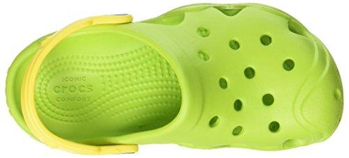 crocs Unisex-Kinder Swiftwaterclgk Clogs Grün (Volt Green/Lemon)