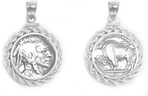buffalo head nickel necklace - 8