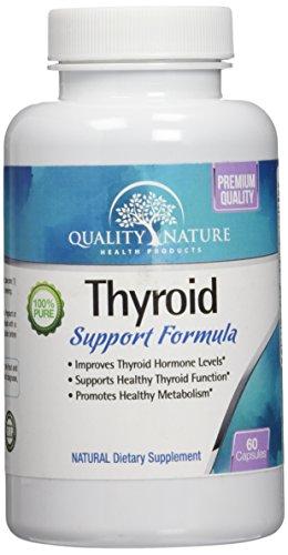 Supplément de soutien thyroïde - mélange de fines herbes tout naturel pour perdre du poids - formule pour stimuler les niveaux d'énergie et le métabolisme avancée - amélioration des hormones thyroïdiennes niveaux - avec - vitamine B-12, L-tyrosine, iode,