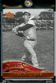 2005 Upper Deck Sweet Spot Classic Baseball Card #86 Ted Williams Boston Red Sox - Mint Condition - In Protective Display Case (Williams Autograph Baseball)