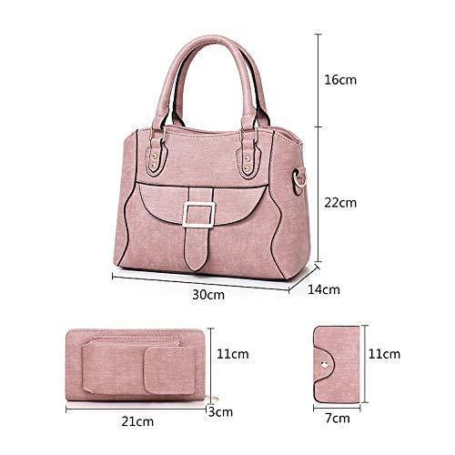 JSXL handtasche Damentaschen Pu (Polyurethan) Tasche Set 3 Stück Stück Stück Geldbörse Set Solid Rot Rosa   Braunhandtasche Handtaschen Tasche Clutches Koffer Umhängetasche B07HMPJ7F6 Umhngetaschen Vollständige Palette von Spezifikationen b597f2