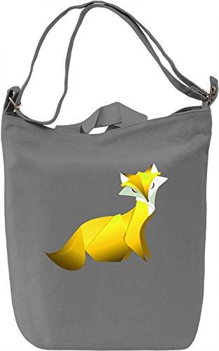 Yellow Fox Borsa Giornaliera Canvas Canvas Day Bag  100% Premium Cotton Canvas  DTG Printing 