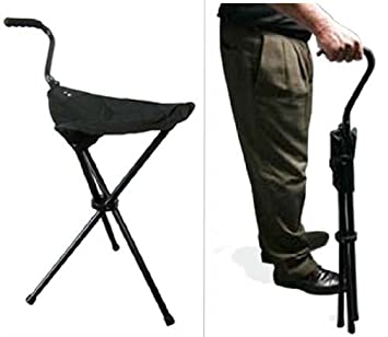 Portable Walking Chair (Cane / Stool) from The Stadium Chair Company  sc 1 st  Amazon.com : portable folding stool - islam-shia.org