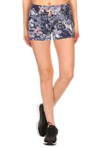 Livingston Women's Sports & Gym Stretchy Slim Fit Yoga Shorts, Large
