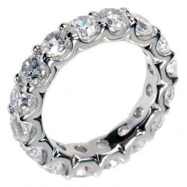 2.00 Ct Round Cut Diamond Eternity Wedding Band. Comfort Fit Ring in Platinum in Size 12