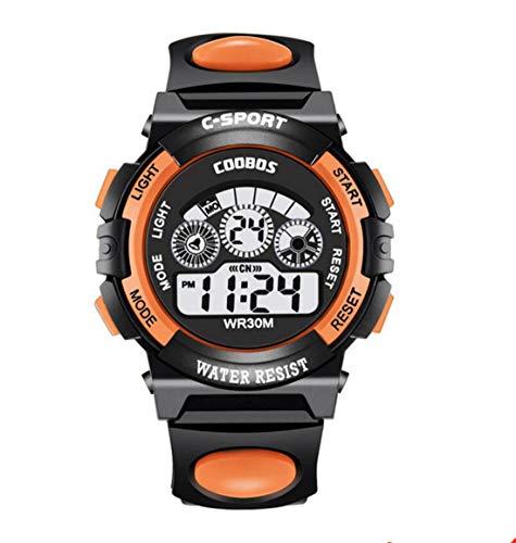 Tmrow Waterproof Sport Stopwatch Digital Child Quartz Wristwatch for Boy ()