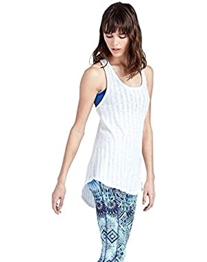 Women's - Swingy Knotted Racerback Tank Top
