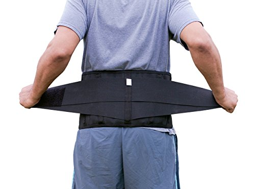 Pro Ice MEDIUM Back Ice Wrap Lumbar Support for Lower Back Pain Relief, Pinched Nerves, Sciatica - Waist Size 26''-33'', Model PI 700 Ice Packs Included by PRO ICE COLD THERAPY PRODUCTS