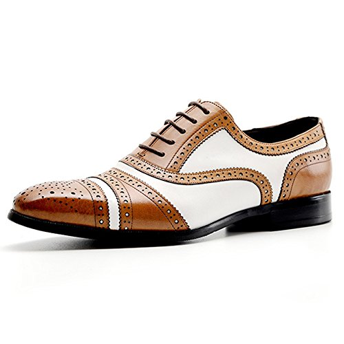 Oxford Lace-up Scarpe Business Casual Scarpe Brogue Scarpe Da Uomo Vintage In Vera Pelle Per Calzature Brown
