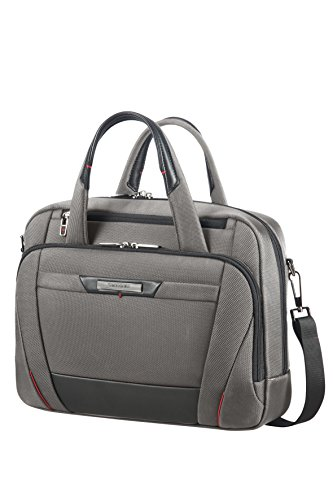 (SAMSONITE LAPT.BAILHANDLE 14.1'' (MAGNETIC GREY) -PRO-DLX 5 Hand Luggage, 27.5 cm, Grey)