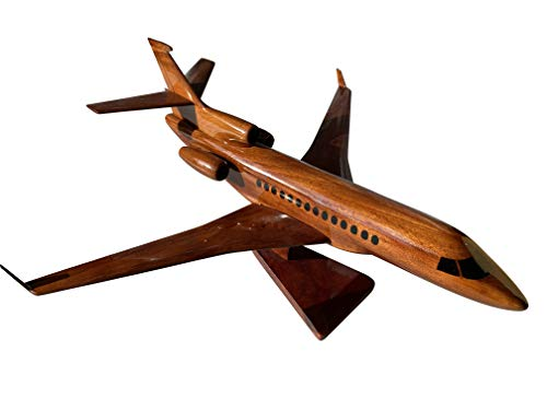 The Dassault Falcon 7X Mahogany Wood Desktop Aircraft Model from TESAUT MODELS